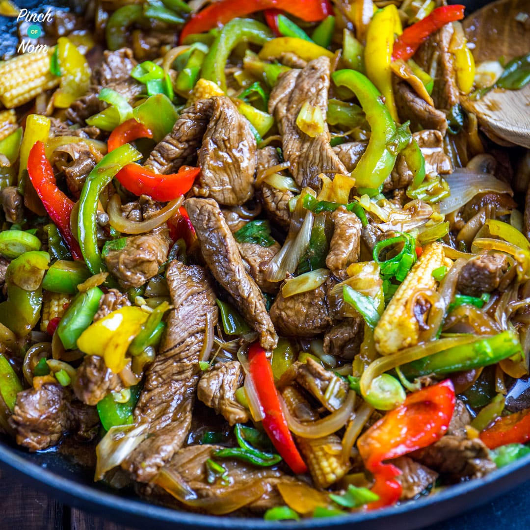 Stir-fried Beef with Ginger and Spring Onion - Slimming World-5