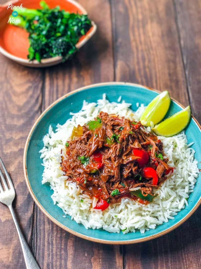 Cuban Beef (Ropa Vieja) | Slimming & Weight Watchers Friendly
