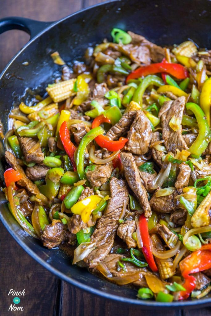 Syn Free Stir-fried Beef with Ginger and Spring Onion - Slimming World-1-1