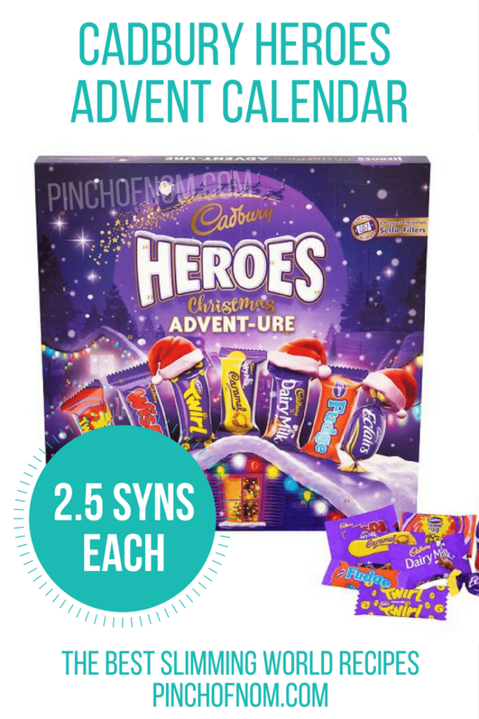 cadbury heroes - 10 Slimming World Friendly Advent Calendars