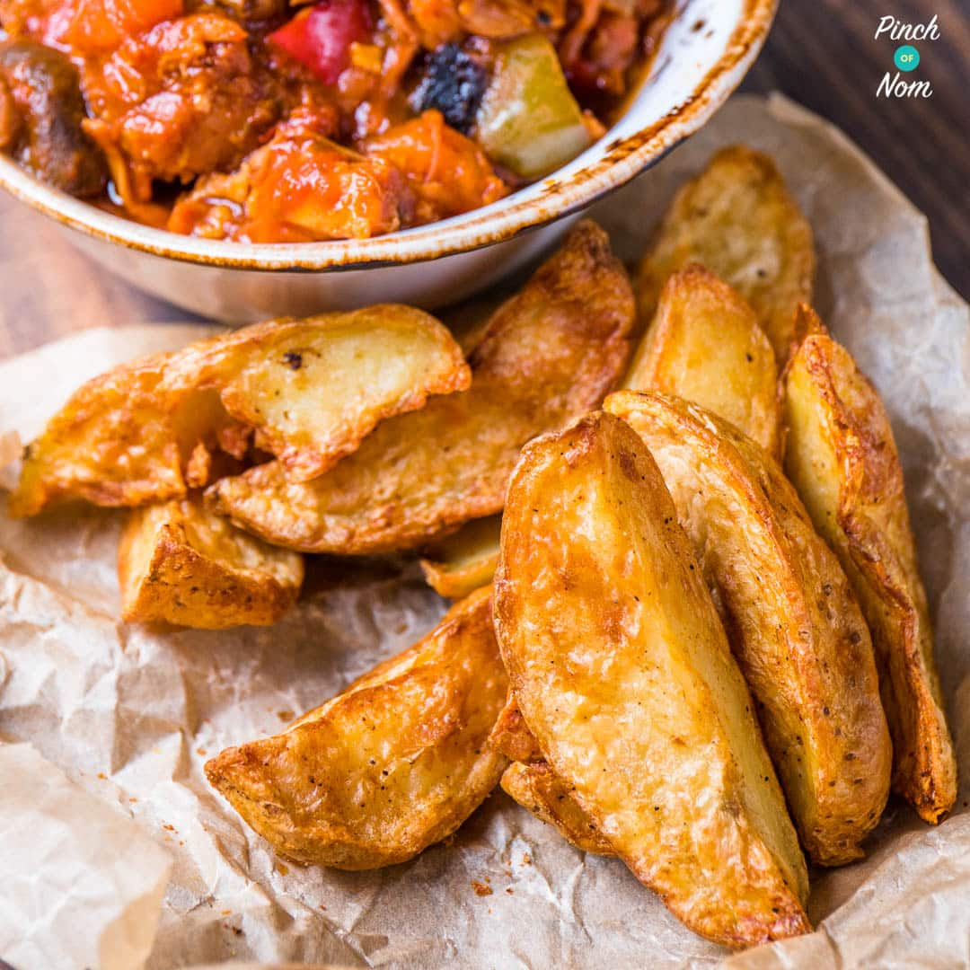 Syn Free Rustic Potato Wedges | Slimming World - Pinch Of Nom Fried Potato Wedges Calorie