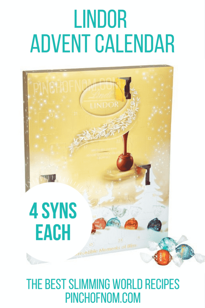 lindor 10 Slimming World Friendly Advent Calendars
