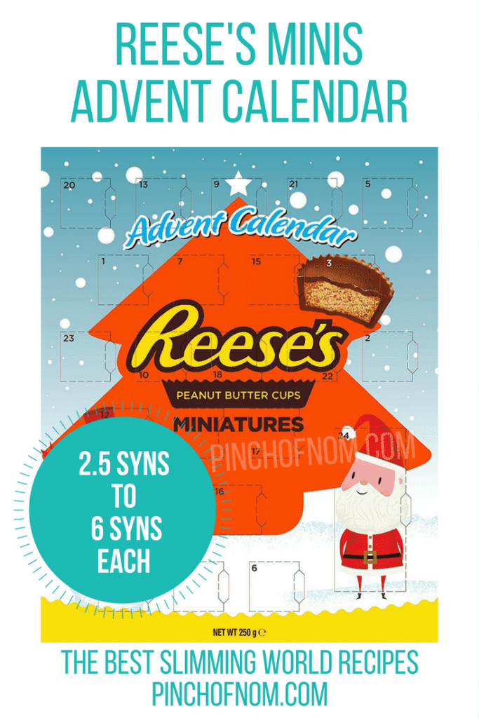 reeses minis 10 Slimming World Friendly Advent Calendars