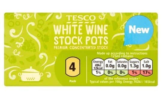Tesco White Wine Stock Pots