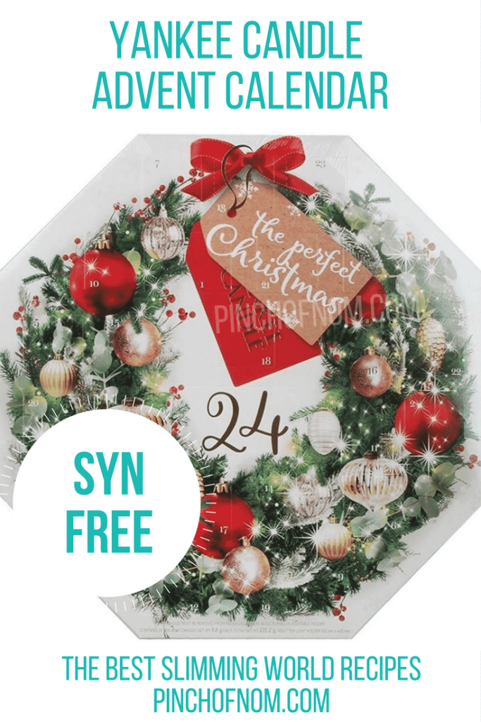 yankee candle 10 Slimming World Friendly Advent Calendars