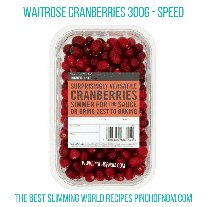 Waitrose Cranberries - Pinch of Nom Slimming World Shopping Essentials