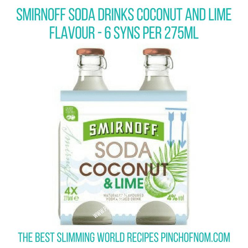 Smirnoff Soda - Pinch of Nom Slimming World Shopping Essentials