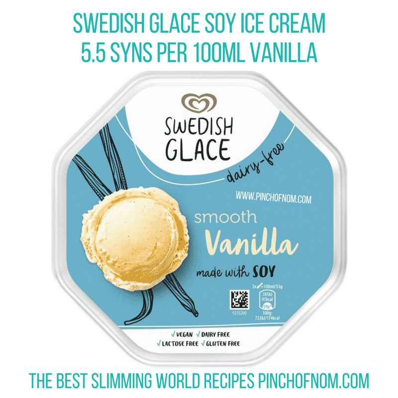 Swedish Glace Soy Ice cream - Pinch of Nom Slimming World Shopping Essentials