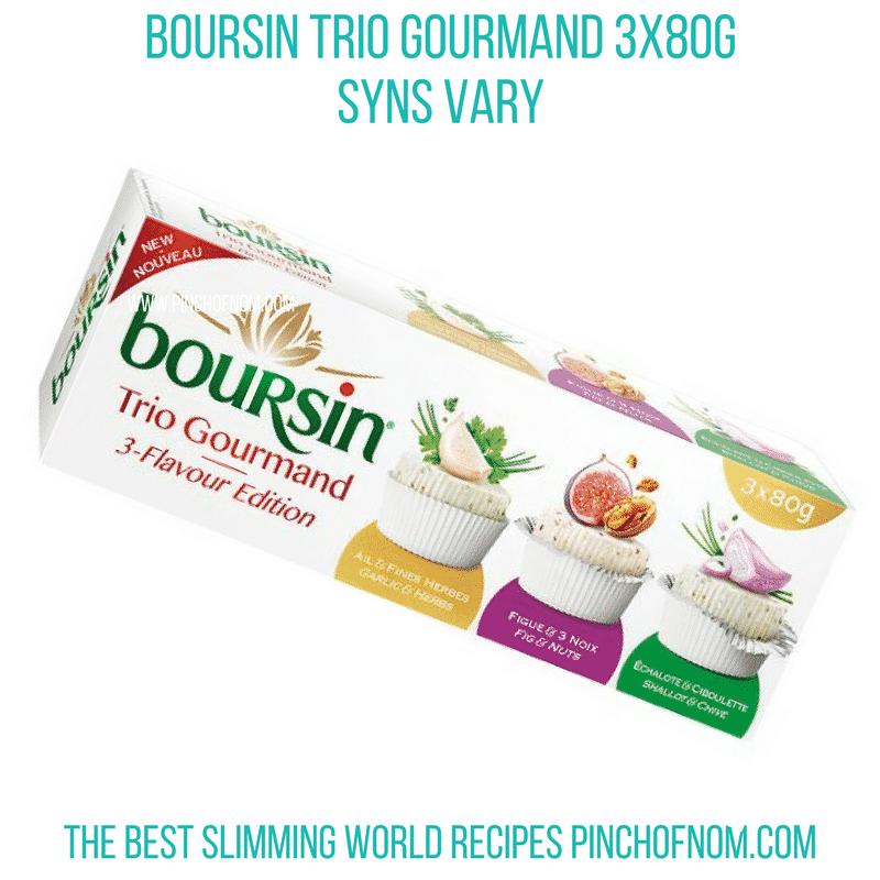 Boursin Trio - Pinch of Nom Slimming World Shopping Essentials