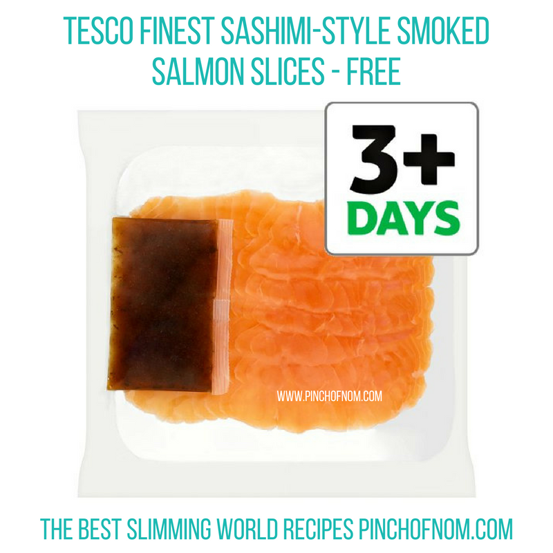 Tesco Sashimi Salmon - Pinch of Nom Slimming World Shopping Essentials