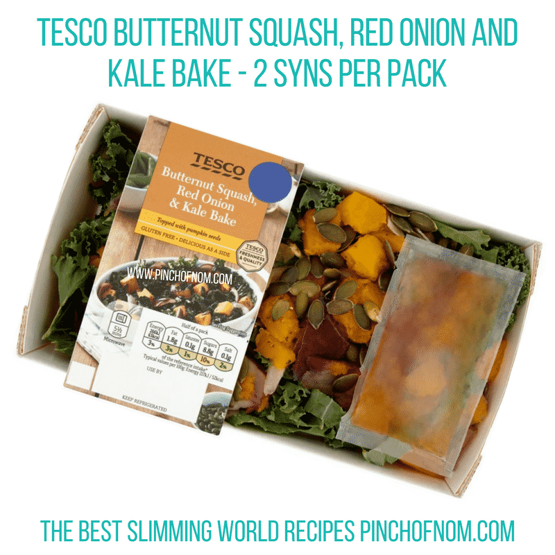 Butternut Squash, red onion and kale bake - Pinch of Nom Slimming World Shopping Essentials
