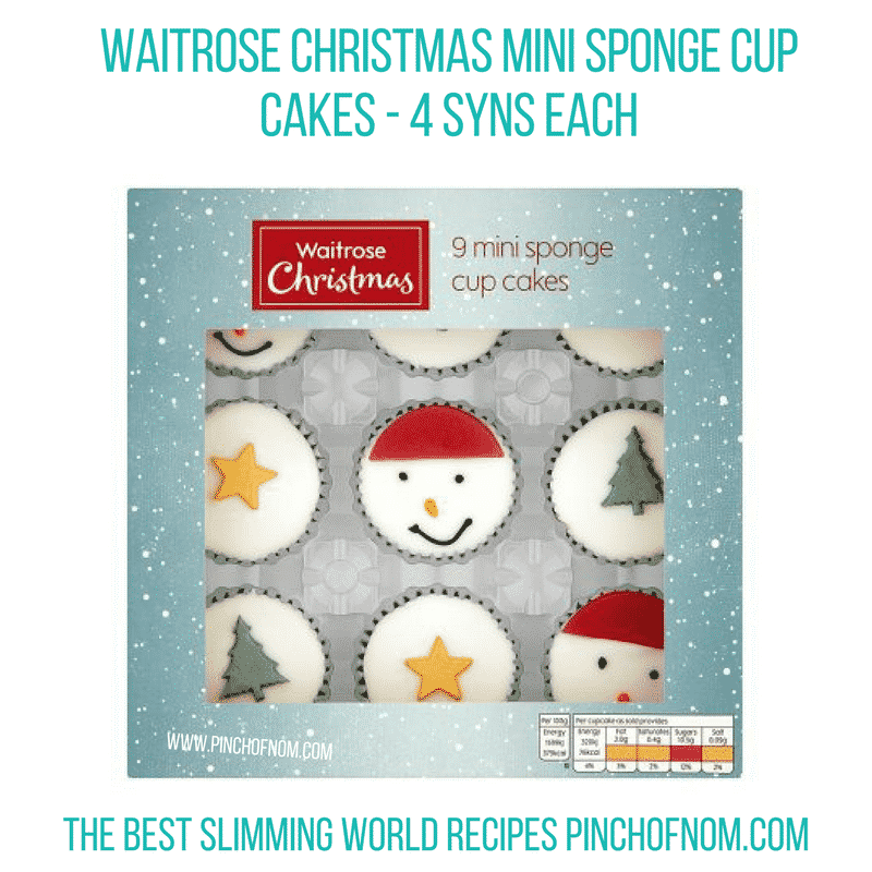 Waitrose Christmas Mini Cupcakes - Pinch of Nom Slimming World Shopping Essentials