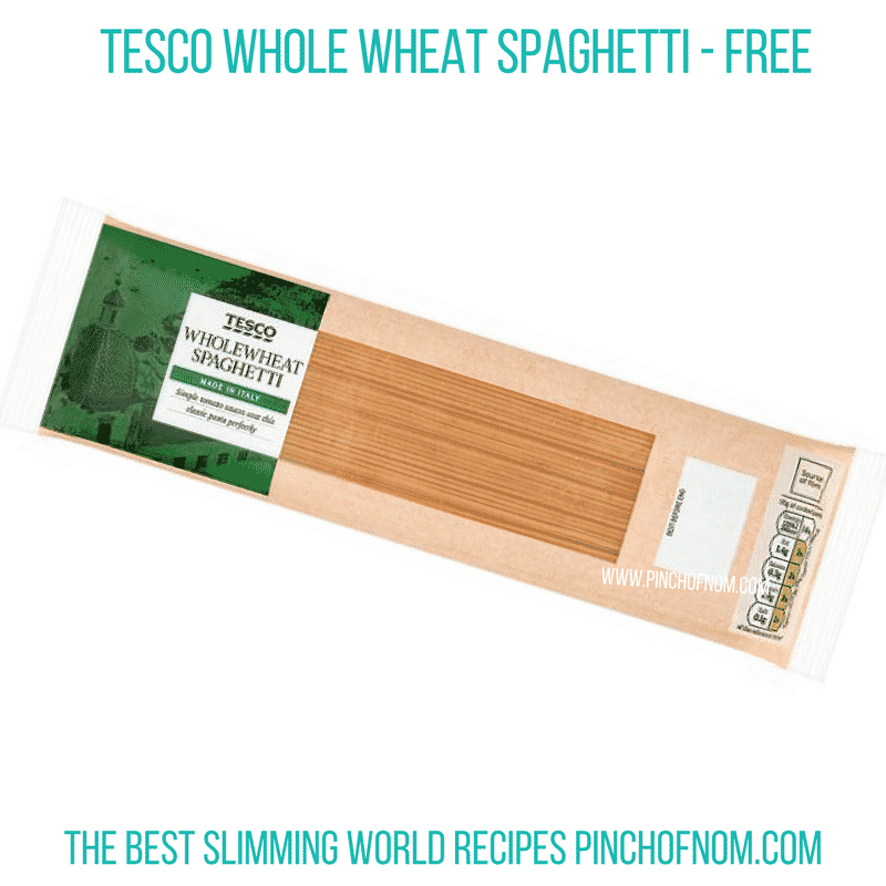 Tesco Whole Wheat Spaghetti - Pinch on Nom Slimming World Shopping Essentials