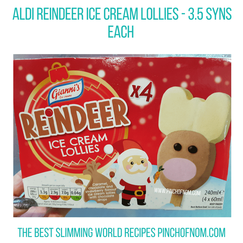 Reindeer lollies - Pinch Of Nom Slimming World Shopping Essentials