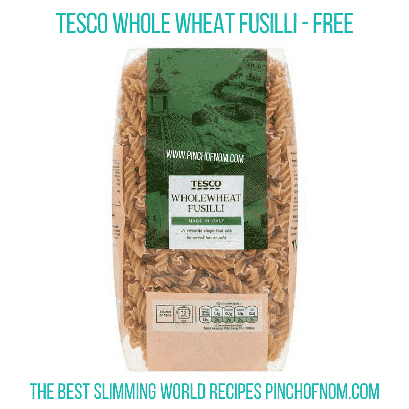 Tesco Whole Wheat Pasta - Pinch of Nom Slimming World Shopping Essentials