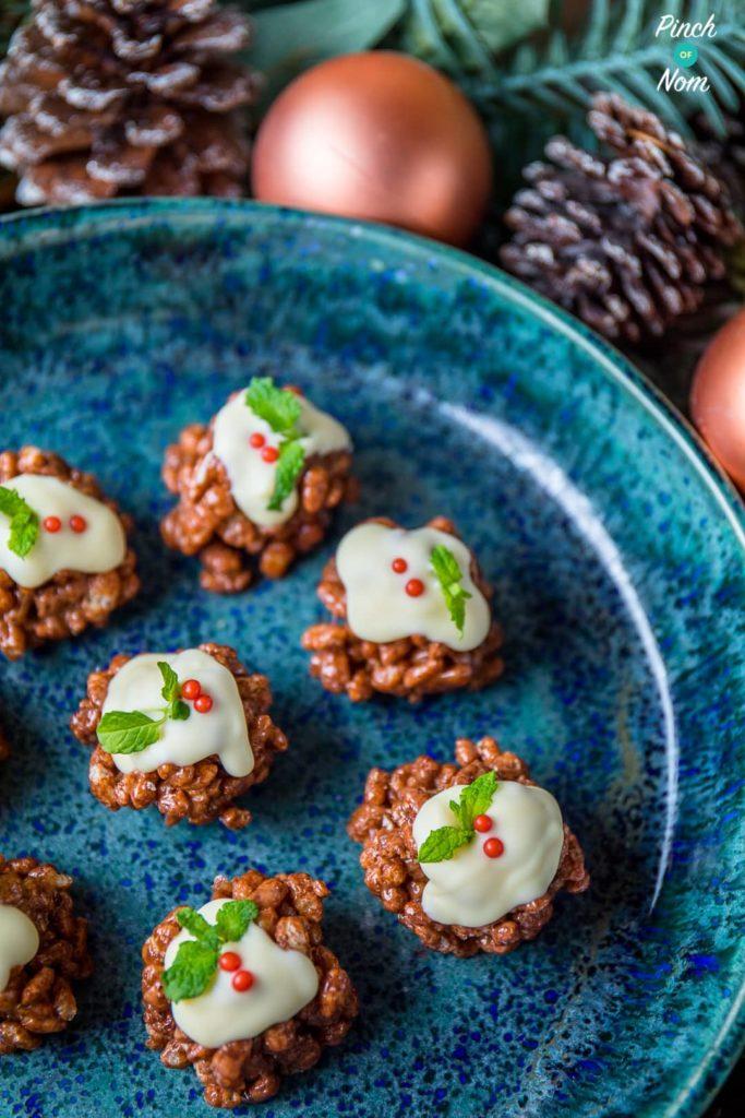 Rice Krispie Christmas Puds | Slimming & Weight Watchers Friendly