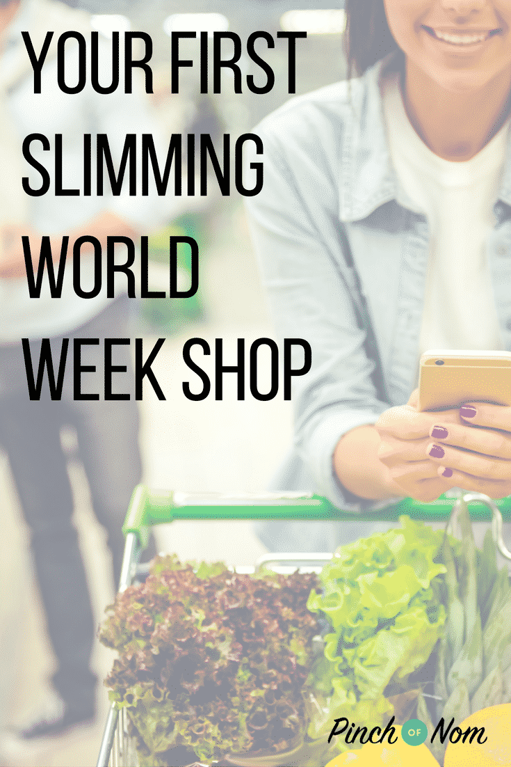 first slimming world week shop