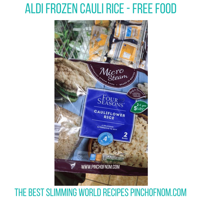 Aldi frozen cauli rice - Pinch of Nom Slimming World Shopping Essentials