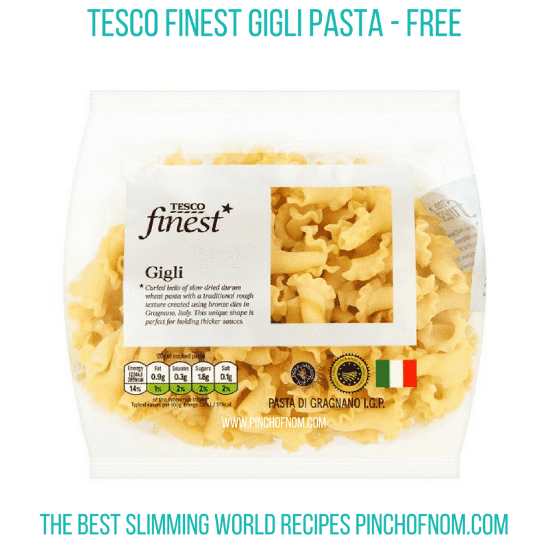 Tesco gigli - pinch of nom Slimming World Shopping Essentials
