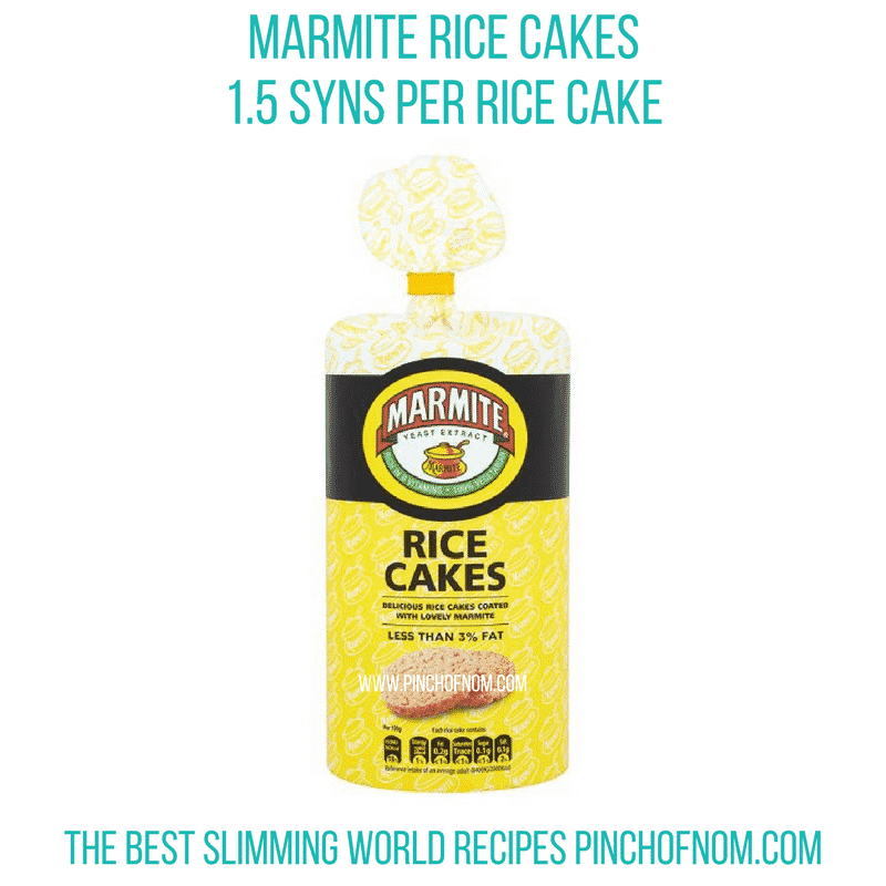 Marmite Rice Cakes - Pinch of Nom Slimming World Shopping Essentials
