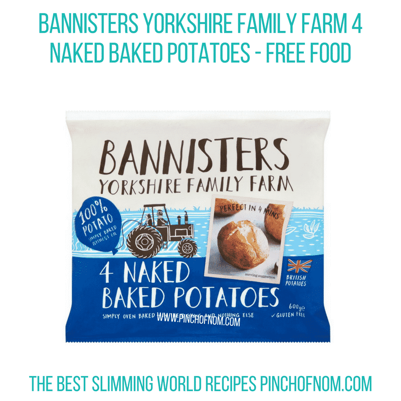 Bannisters naked potatoes - Pinch of Nom Slimming World Shopping Essentials