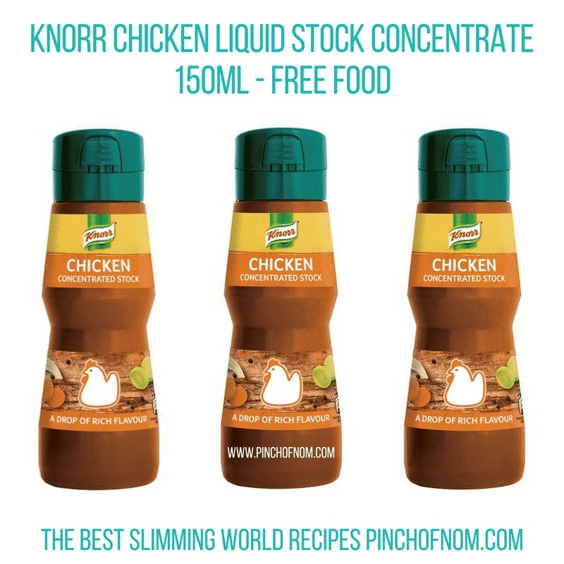 Knorr stock concentrate - Pinch of Nom Slimming World Shopping Essentials