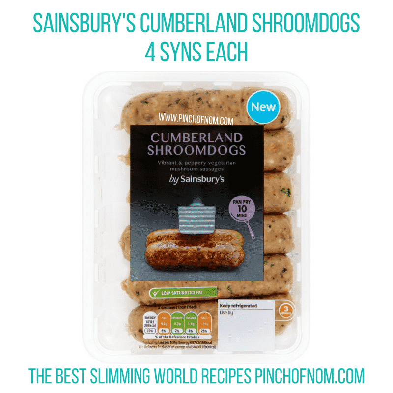 Cumberland Shroomdogs - Pinch of Nom Slimming World Shopping Essentials