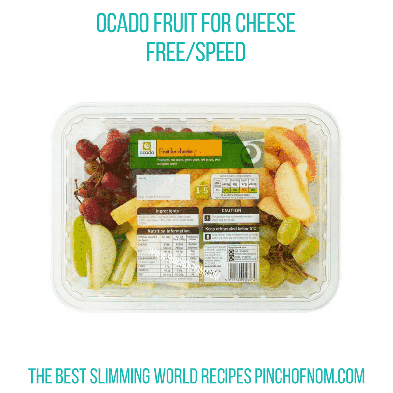 Ocado Fruit for Cheese - Pinch of Nom Slimming World Shopping Essentials