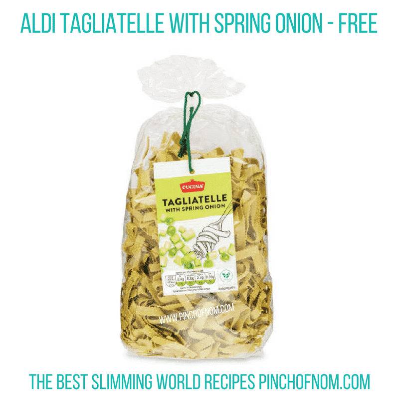 Tagliatelle spring onion - pinch of nom Slimming World Shopping Essentials