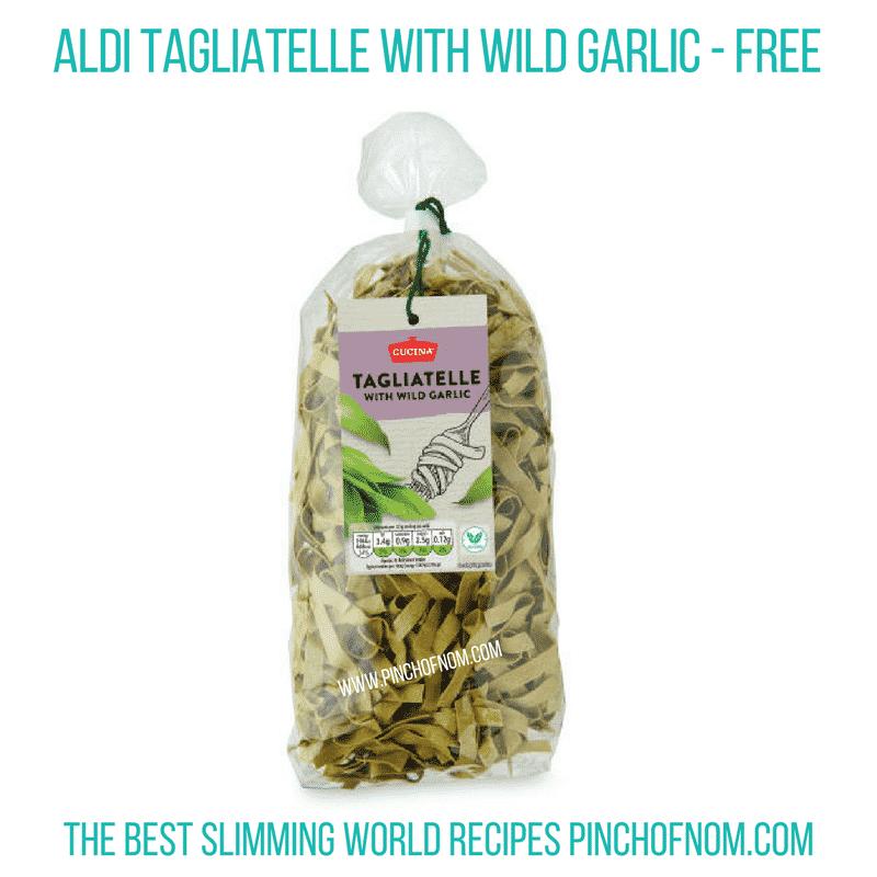Tagliatelle wild garlic - pinch of nom Slimming World Shopping Essentials
