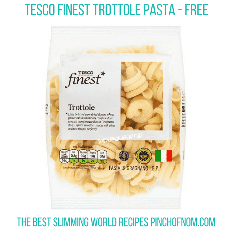 Trottole Pasta - pinch of nom Slimming World Shopping Essentials