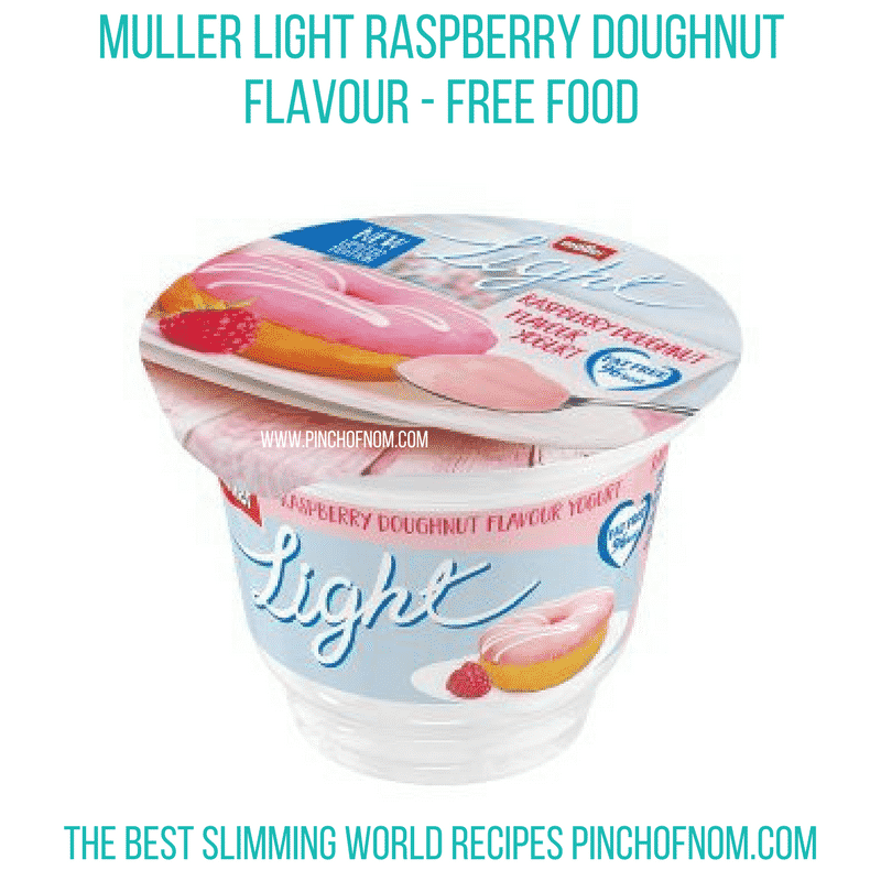 Muller light Raspberry doughnut - Pinch of Nom Slimming World Shopping Essentials