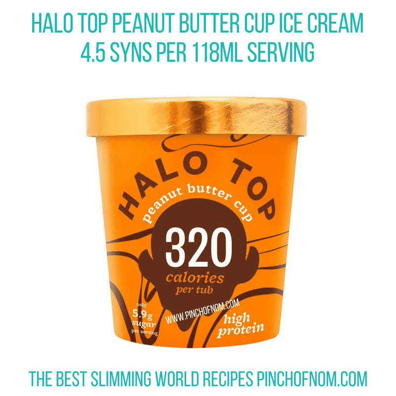 Halo top Peanut Butter - Pinch of Nom Slimming World Shopping Essentials