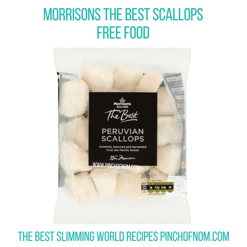 Morrisons The Best Scallops - Pinch of Nom Slimming World Shopping Essentials
