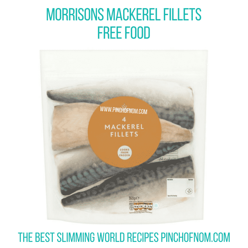 Morrisons mackerel fillets - Pinch of Nom Slimming World Shopping Essentials