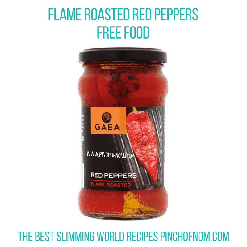 Flame Roasted Red Peppers - Pinch of Nom Slimming World Shopping Essentials