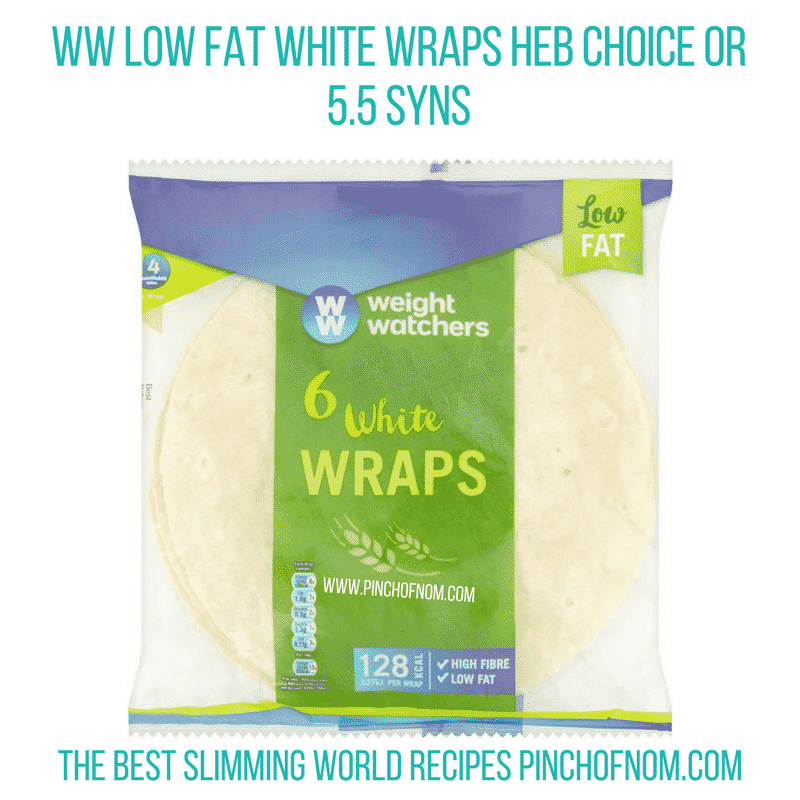 WW Low fat White wraps - Pinch of Nom Slimming World Shopping Essentials