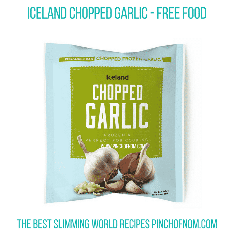 Iceland chopped garlic - Pinch of Nom Slimming World Shopping Essentials