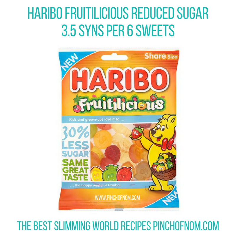 Haribo Fruitilicious - Pinch of Nom Slimming World Shopping Essentials