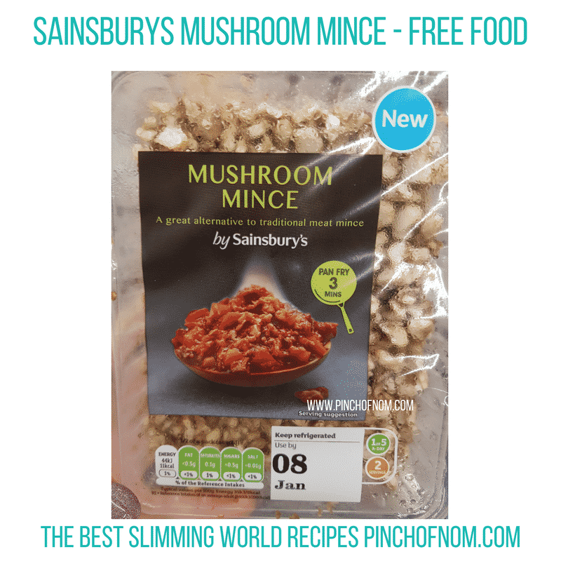 Sainsburys Mushroom mince - Pinch of Nom Slimming World Shopping Essentials
