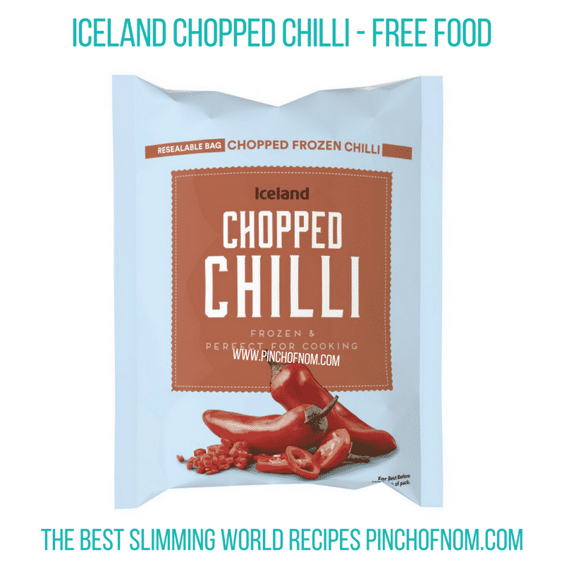 Iceland Chopped Chilli - Pinch of Nom Slimming World Shopping Essentials