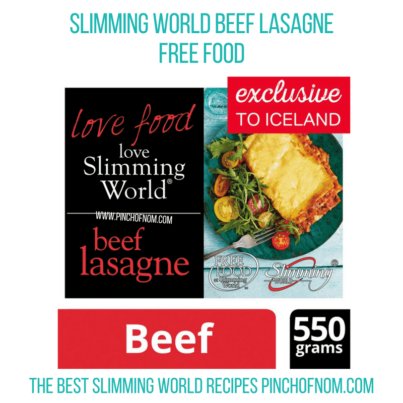 Slimming World Beef Lasagne - Pinch of Nom Slimming World Shopping Essentials