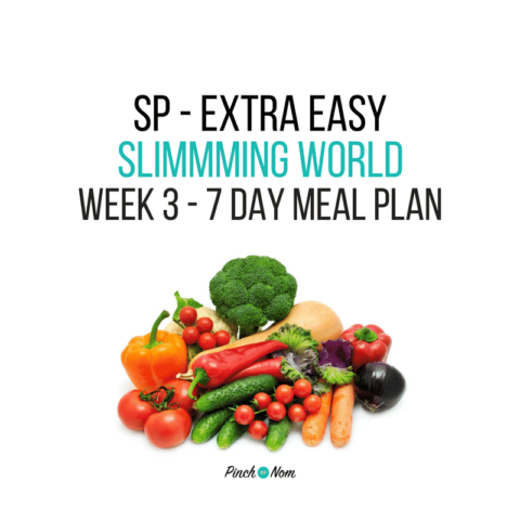 7 Day Slimming World Meal Plan – SP Extra Easy – Week 3