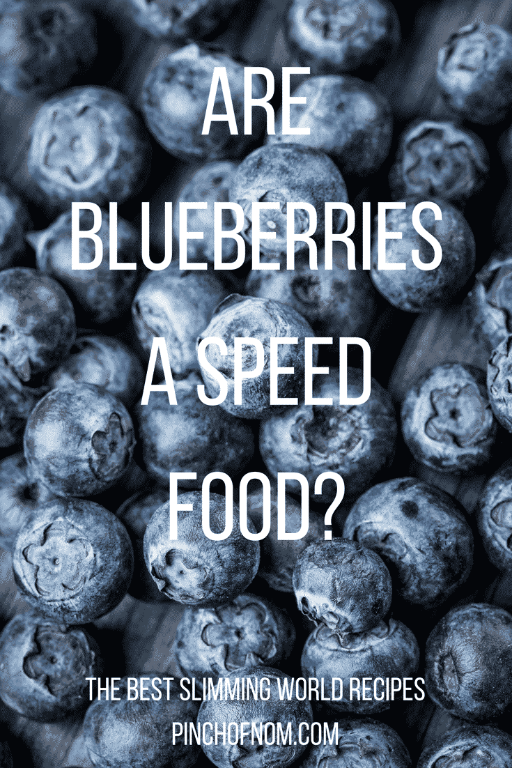 Are blueberries Speed Food?