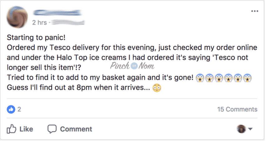 People on our Facebook group are struggling to get hold of Halo Top!
