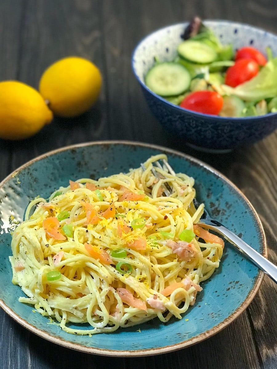 Low Syn Creamy Smoked Salmon Spaghetti | Slimming World