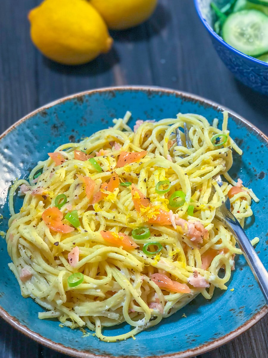 Low Syn Creamy Smoked Salmon Spaghetti | Slimming World 4