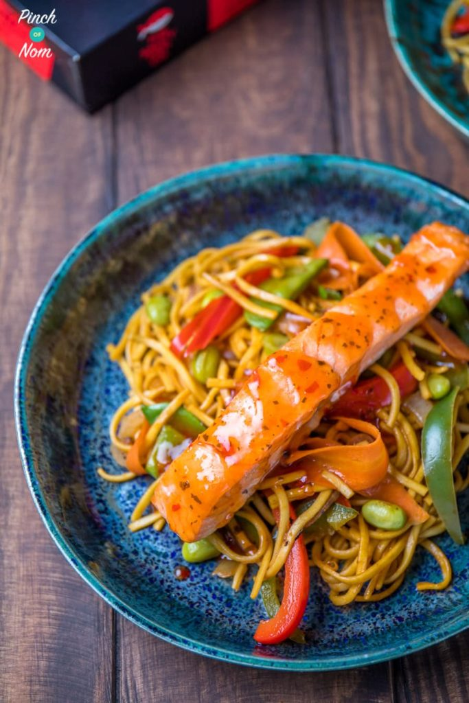 Low Syn Ginger, Chilli & Lime Salmon with noodles-2
