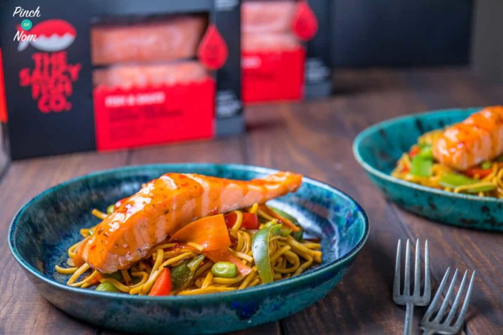 Low Syn Ginger, Chilli & Lime Salmon with noodles-4