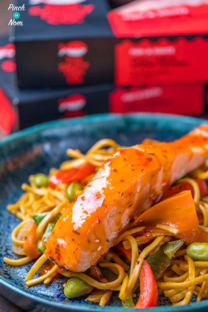 Low Syn Ginger, Chilli & Lime Salmon with noodles-5